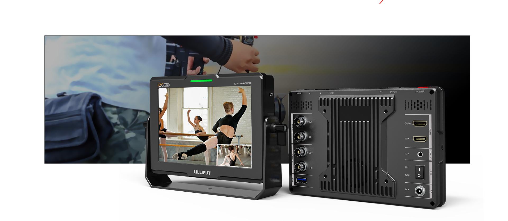 12G-SDI On-Camera monitor