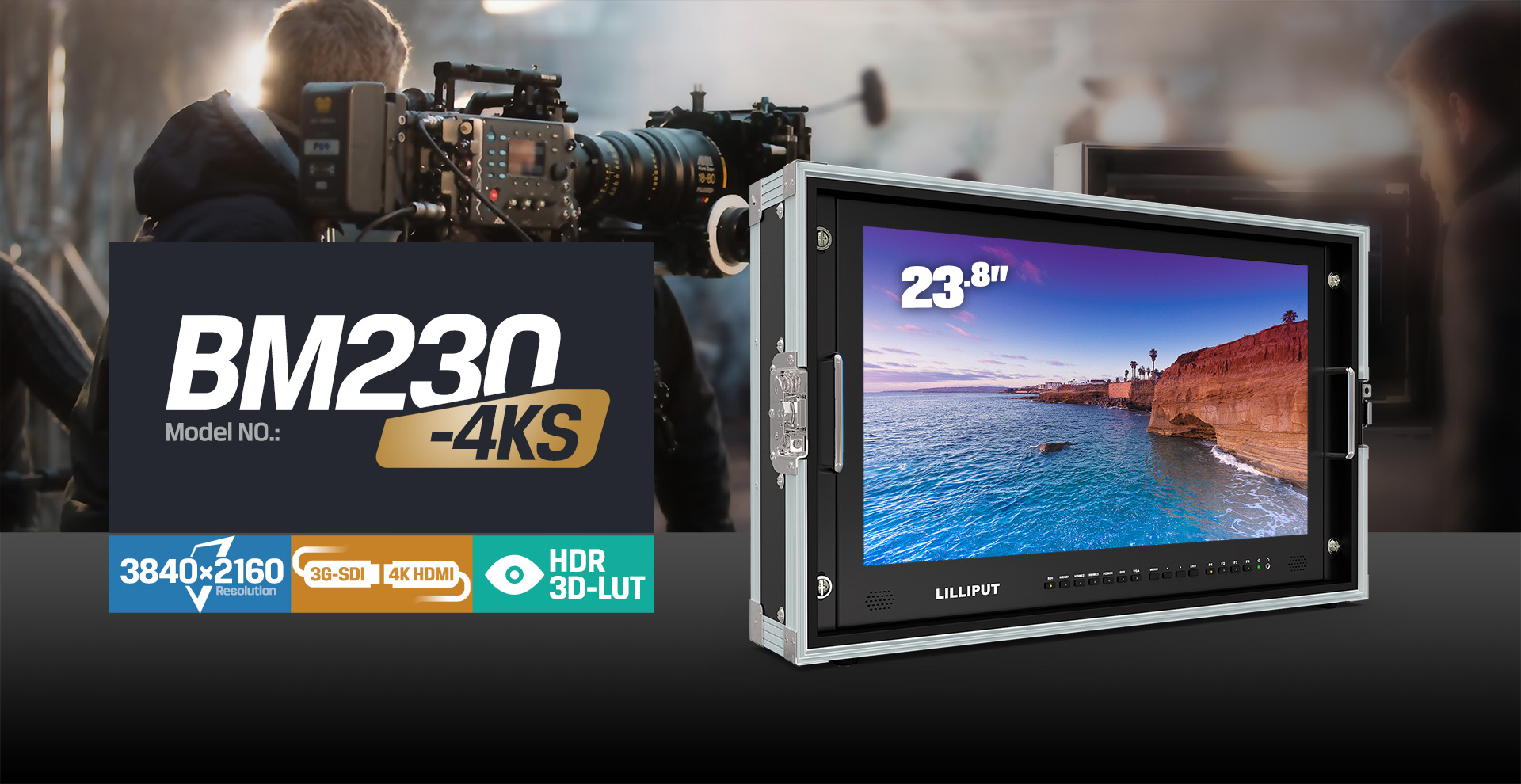 23.8 inch broadcast lcd monitor