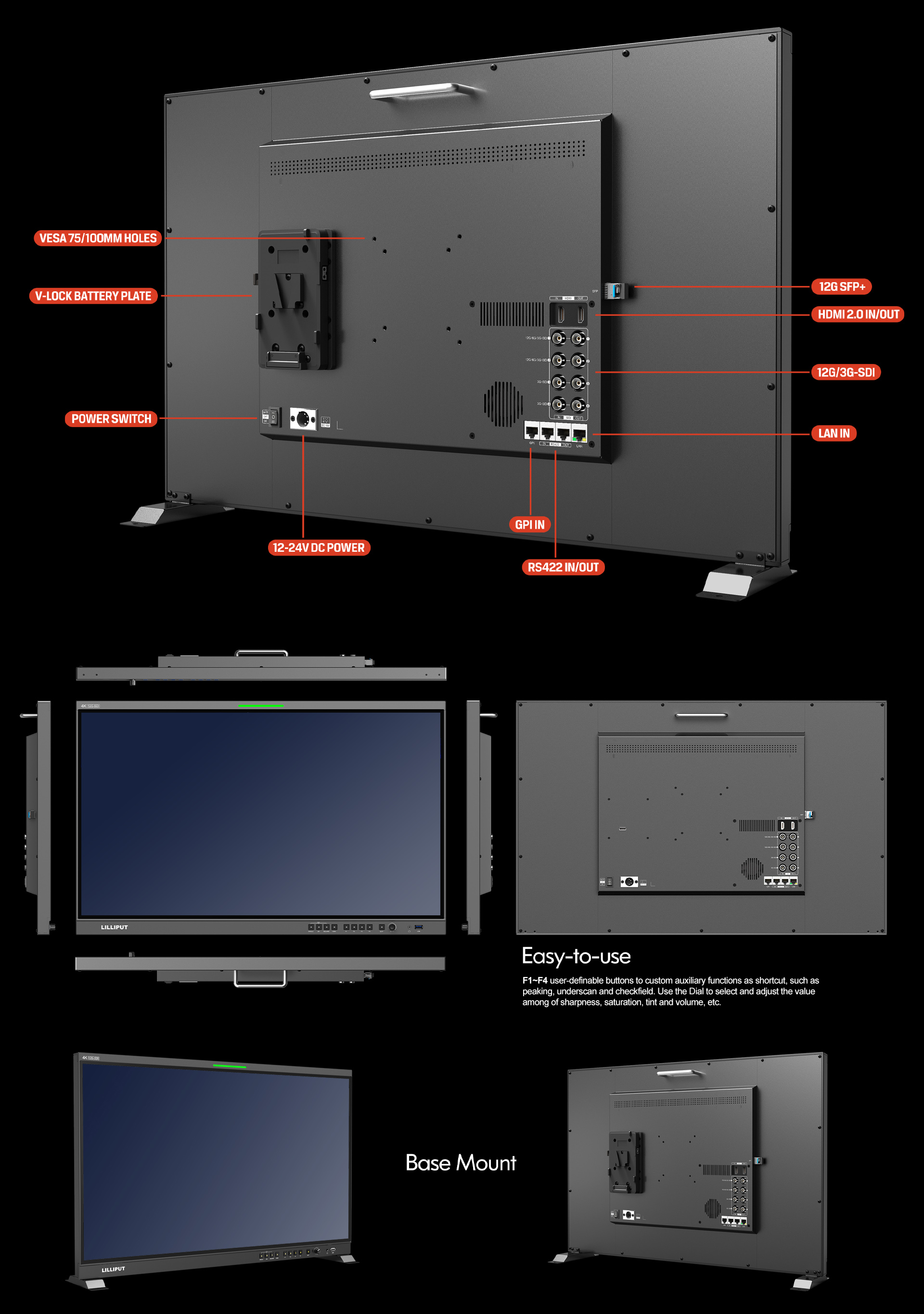 31.5 inch production broadcast monitor