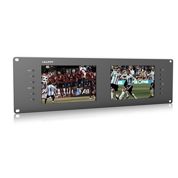 Low price for Rack Mounted Monitor - RM-7028S _ Dual 7 inch 3RU rackmount SDI monitor – LILLIPUT