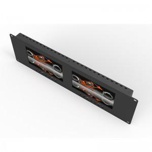 RM-7025_ Dual 7 inch 3RU rackmount monitor