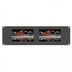 RM-7024 _ Dual 7 inch 3RU rackmount monitor