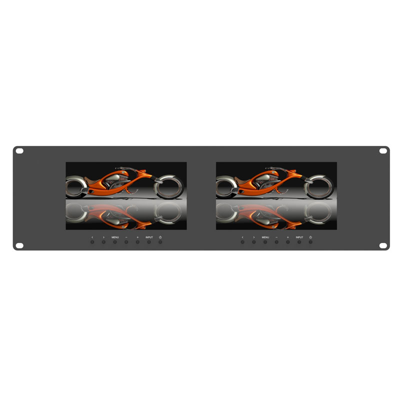 RM-7024 _ Dual 7 inch 3RU rackmount monitor Featured Image