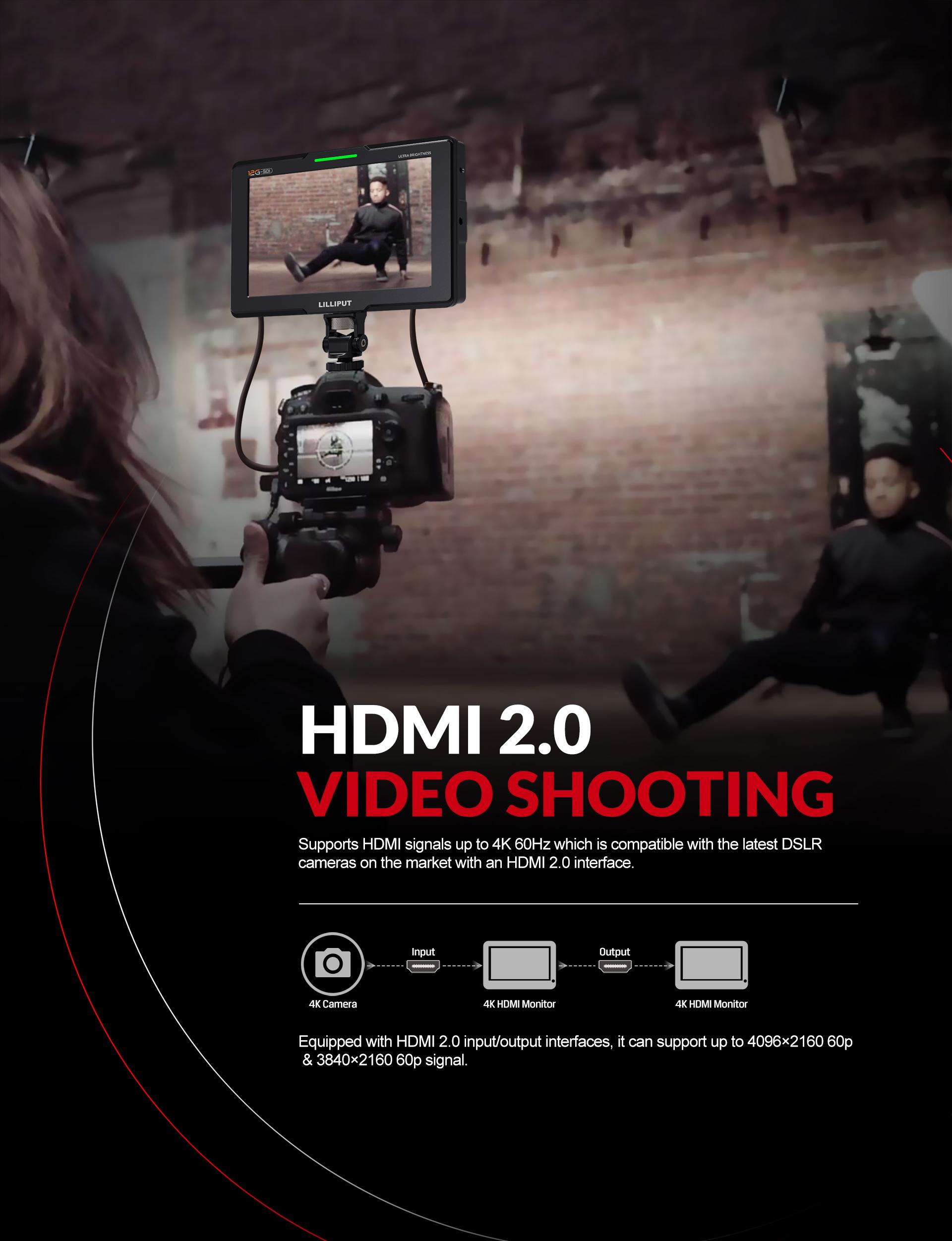 7inch 12G-SDI Top camera monitor