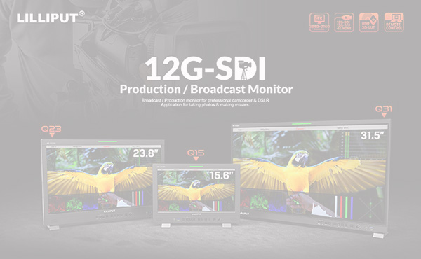 New Release !  15.6″/23.8″/31.5″ 12G-SDI 4k Broadcast production studio monitor with remote control ,12G-SFP